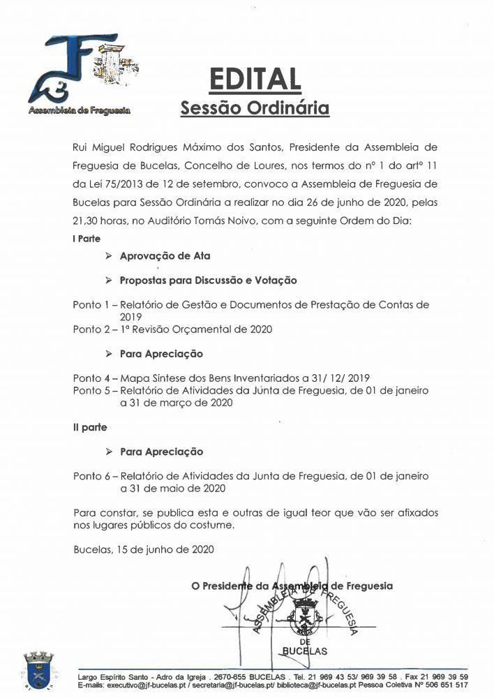 Assembleia Ordinária 27 04 2018